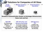 sap solutions for companies of all sizes
