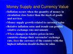 money supply and currency value
