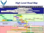 high level road map