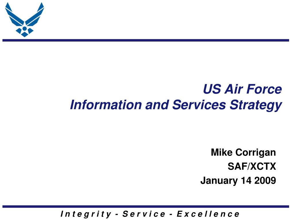 us air force information and services strategy l.