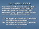 100 capital social