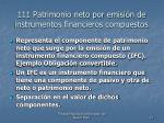 111 patrimonio neto por emisi n de instrumentos financieros compuestos