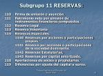 subgrupo 11 reservas