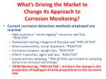 what s driving the market to change its approach to corrosion monitoring