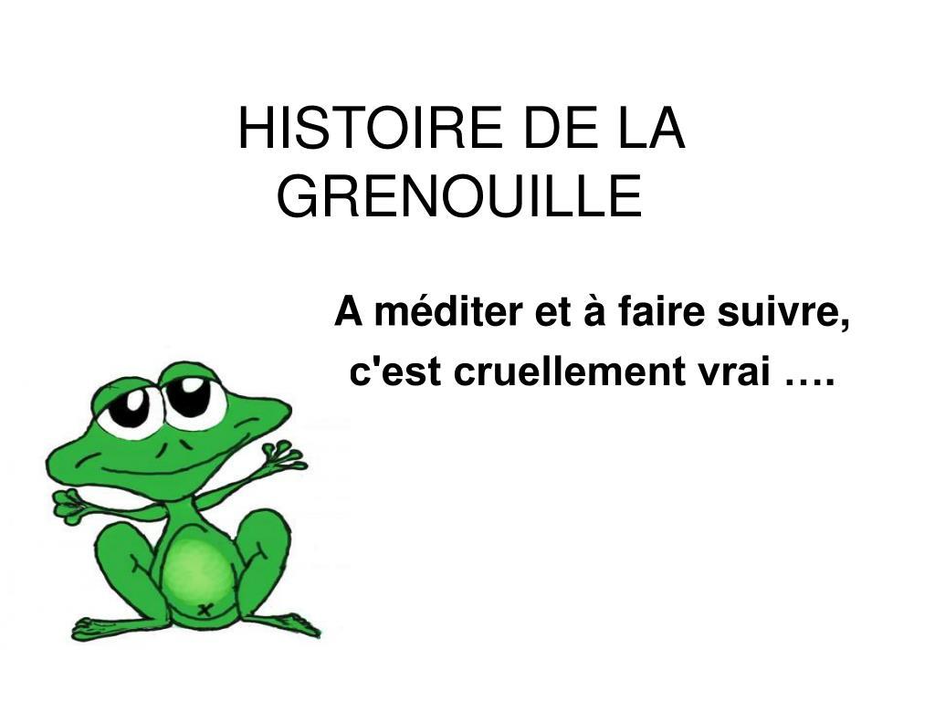 histoire de la grenouille l.