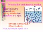 2 evaporation and particle motion