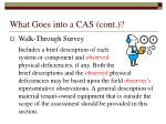 what goes into a cas cont16
