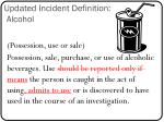 updated incident definition alcohol