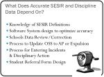 what does accurate sesir and discipline data depend on