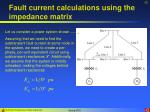 fault current calculations using the impedance matrix32