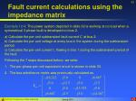 fault current calculations using the impedance matrix43