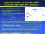 internal generated voltages of loaded machines under transient conditions26