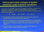 internal generated voltages of loaded machines under transient conditions28