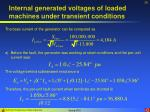 internal generated voltages of loaded machines under transient conditions29