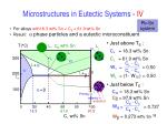 microstructures in eutectic systems iv