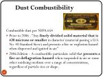 dust combustibility