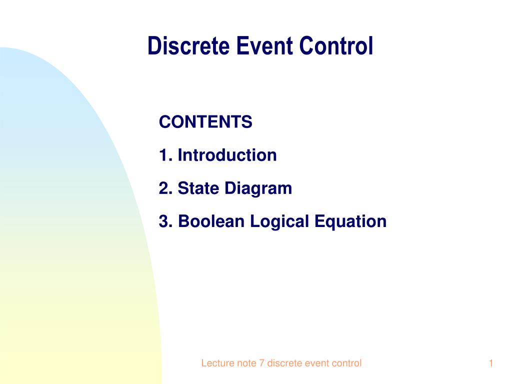 discrete event control l.