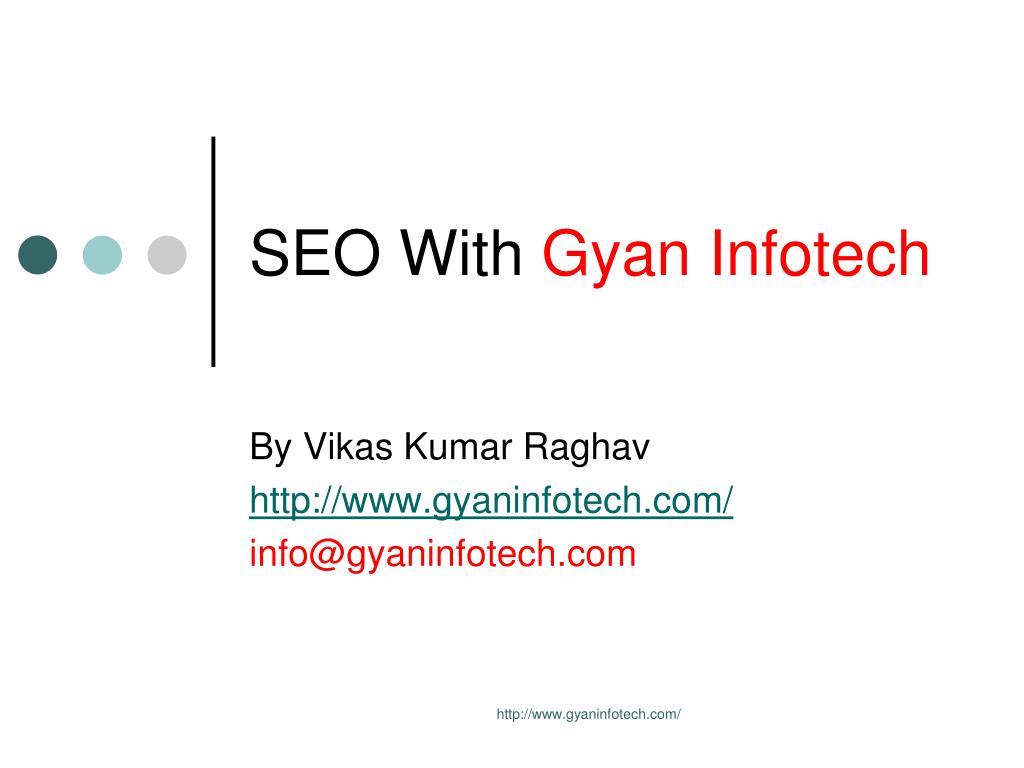 seo with gyan infotech l.
