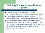 helping students learn how to learn37