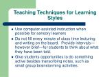teaching techniques for learning styles30