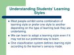 understanding students learning styles19