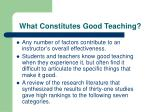 what constitutes good teaching