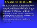analisis de dioxinas