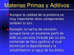 materias primas y aditivos101