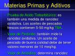 materias primas y aditivos103
