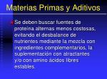 materias primas y aditivos115