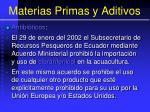 materias primas y aditivos150