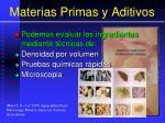 materias primas y aditivos18