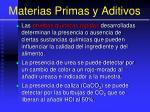 materias primas y aditivos23