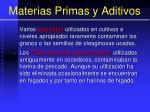 materias primas y aditivos36