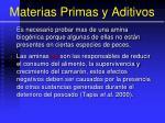 materias primas y aditivos41