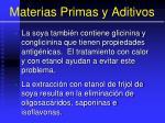 materias primas y aditivos48