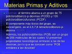 materias primas y aditivos79