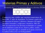 materias primas y aditivos81