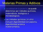 materias primas y aditivos89