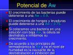 potencial de aw