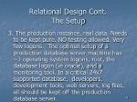 relational design cont the setup32