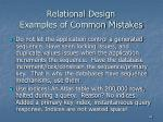 relational design examples of common mistakes46