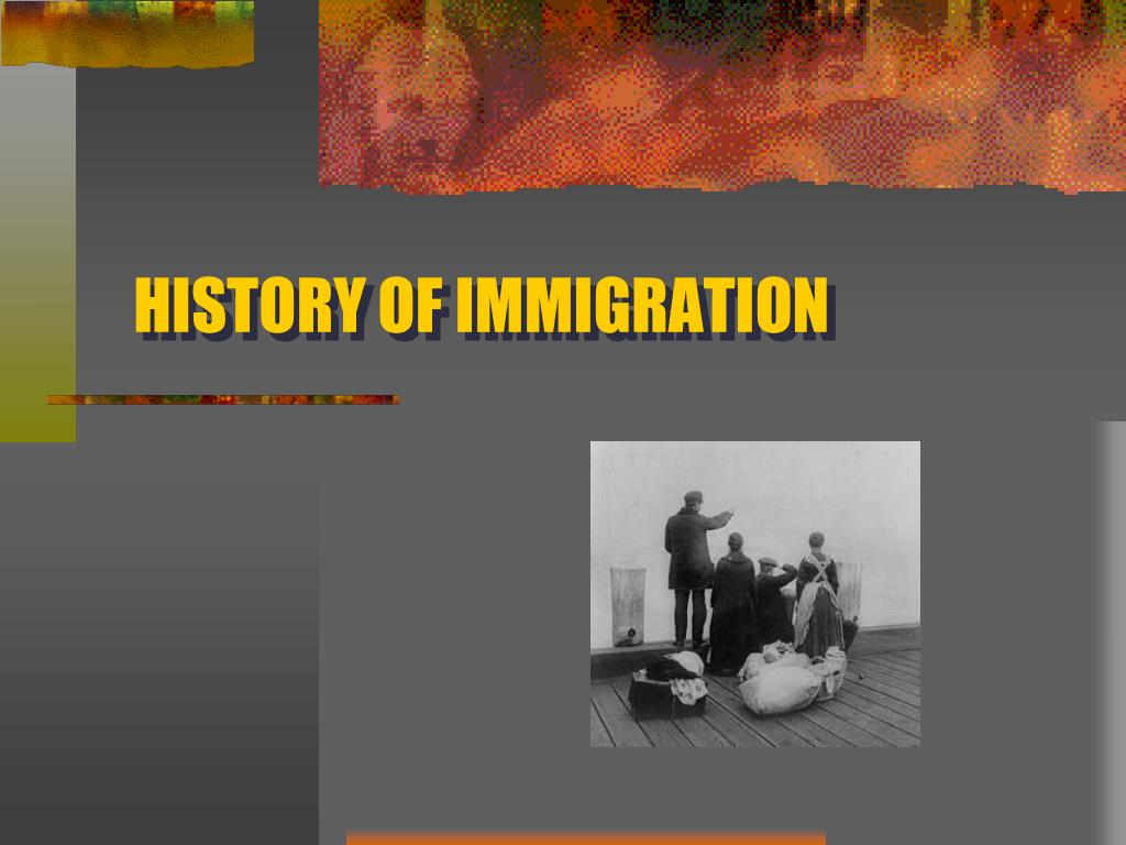 history of immigration l.