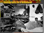immigrants in a tenement