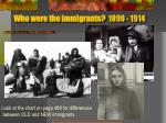 who were the immigrants 1890 1914