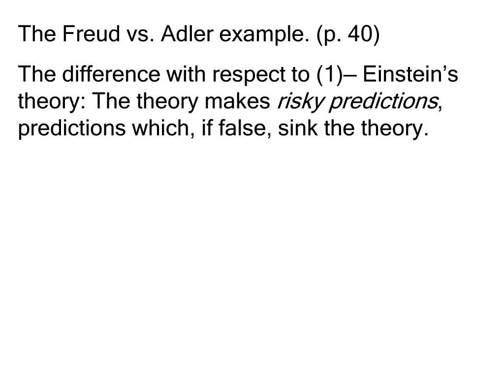 The Freud vs. Adler example. (p. 40)