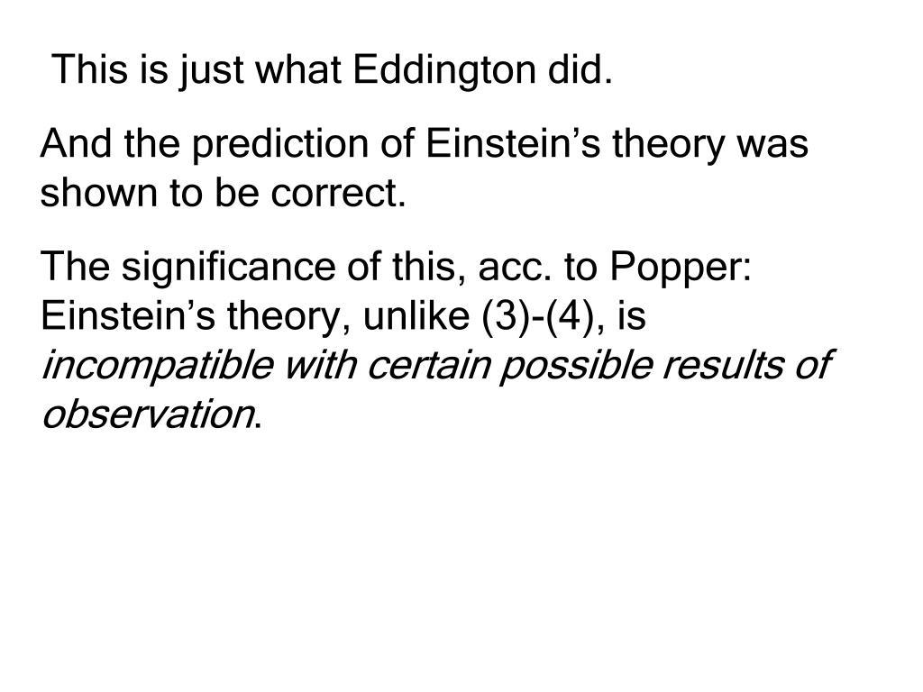 This is just what Eddington did.
