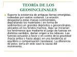 teor a de los geosinclinales