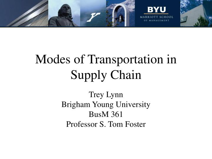 modes of transportation in supply chain n.