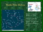 north pole moves